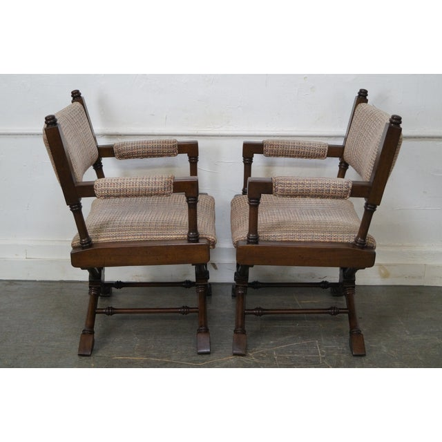 Hollywood Regency Regency Style Directors' Arm Chairs - Set of 4 For Sale - Image 3 of 10