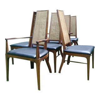 1960s Danish Modern Lane Rythm Dining Chairs - Set of 6 For Sale