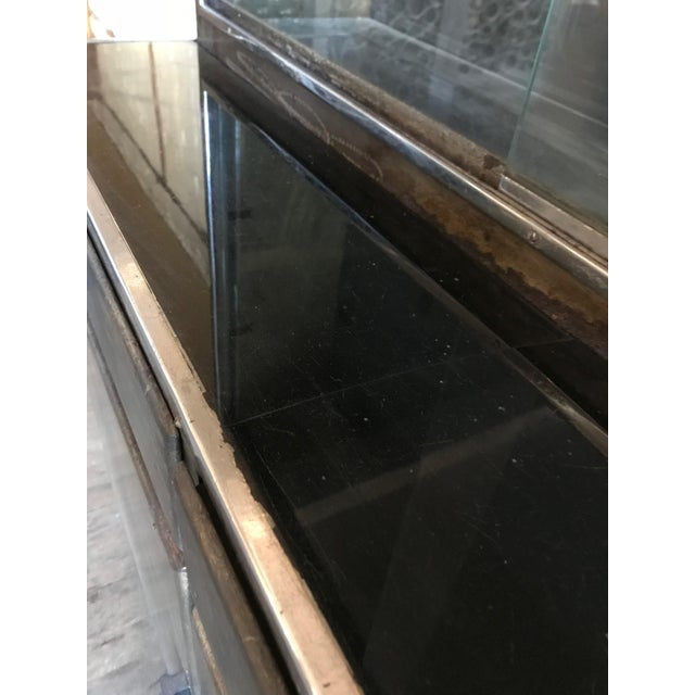 Gold Metal Bar Cabinet For Sale - Image 8 of 9