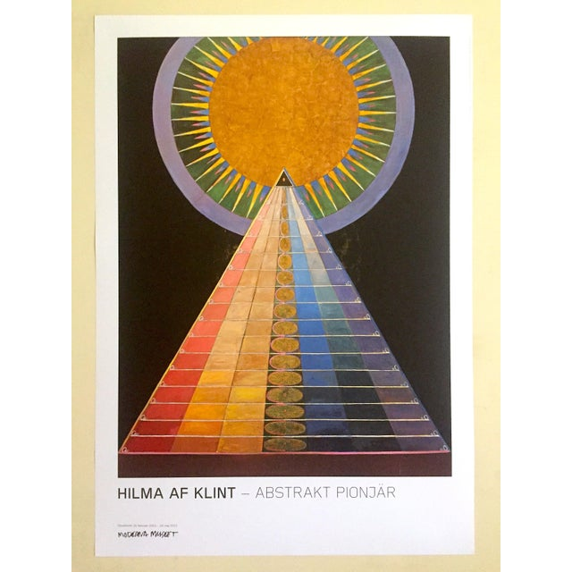 "Hilma Af Klint Abstract Lithograph Print Moderna Museet Sweden Exhibition Poster "" Altarpiece No.1 Group X "" 1915 For Sale - Image 13 of 13"