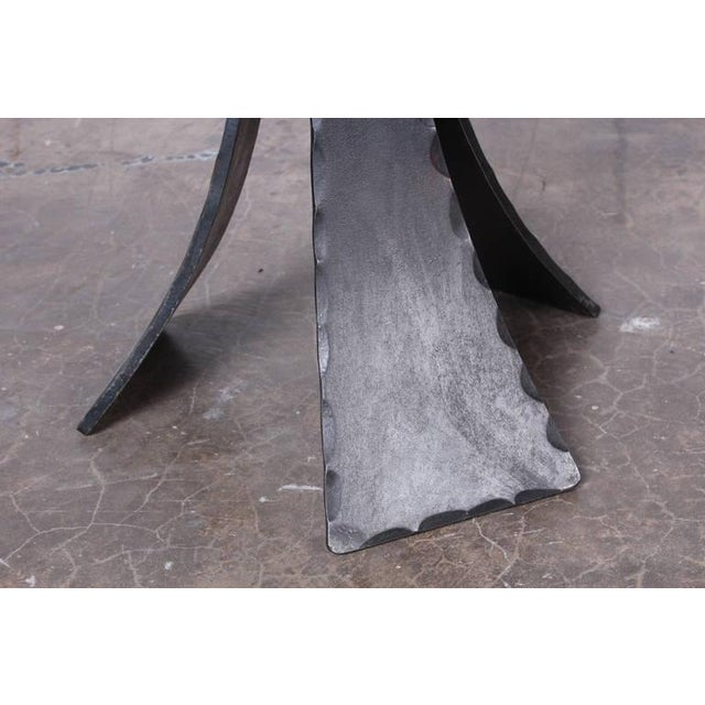 Pair of Forged Steel Stools Designed by John Baldasare For Sale In Dallas - Image 6 of 10