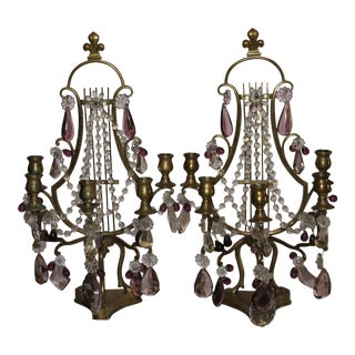 Mid 19th Century Antique French Maison Bagues Girandoles - A Pair For Sale