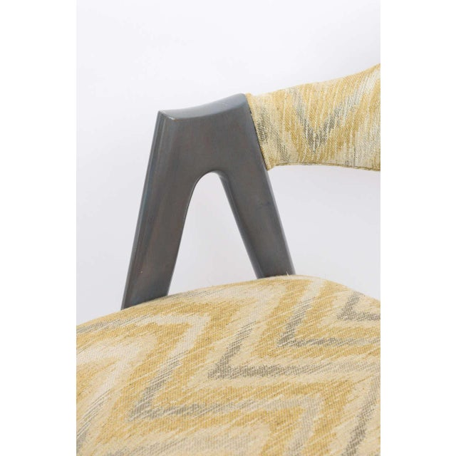 Animal Skin Scissor Design Vintage Sidechairs in Zigzag Fabric For Sale - Image 7 of 10