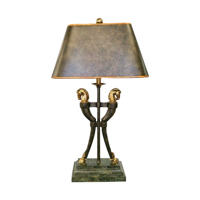 Maitland-Smith Brass Horse Table Lamp - Image 1 of 6