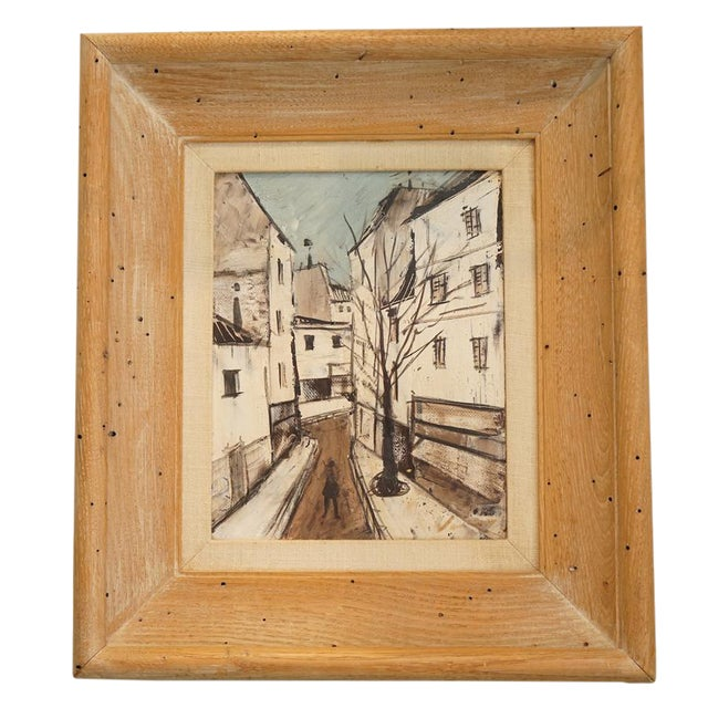 1950s Cityscape Painting by Charles Levier For Sale
