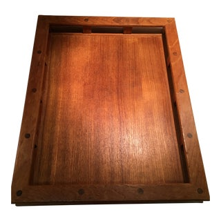 Mid 20th Century Modern Dansk Designs Teak Bar Tray For Sale