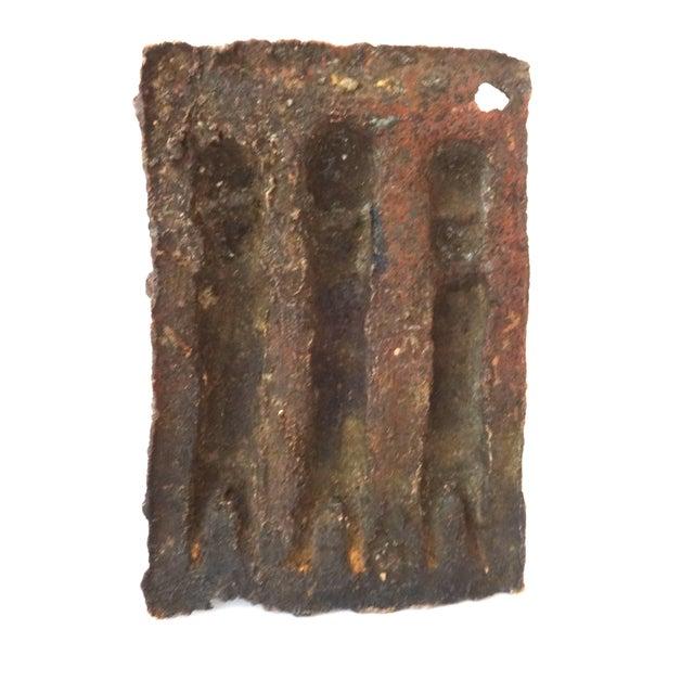 Benin African Bronze Plaque of King with Warriors - Image 5 of 5