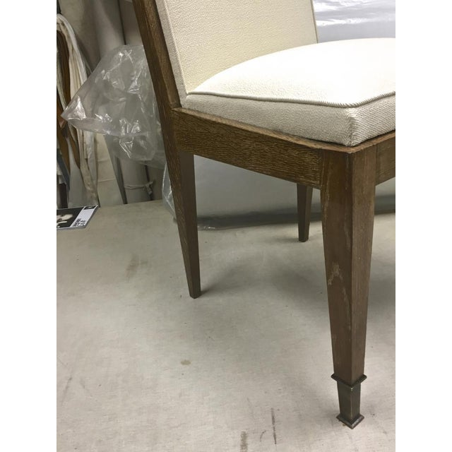 Art Deco Marc Duplantier Rare Set of 6 Oak Dining Chairs For Sale - Image 3 of 9