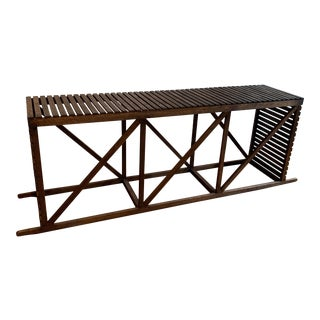 "Rustic ""Museum Crate"" Console Table For Sale"