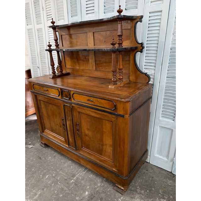 Black 19th Century French Country Buffet For Sale - Image 8 of 9