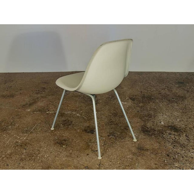 Herman Miller Charles and Ray Eames for Herman Miller White Shell Chair For Sale - Image 4 of 6