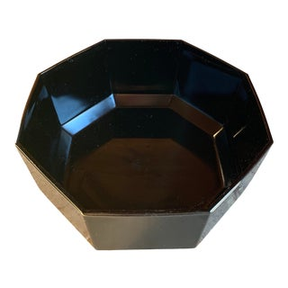 Arcoroc of France Black Glass Octagonal Bowl For Sale
