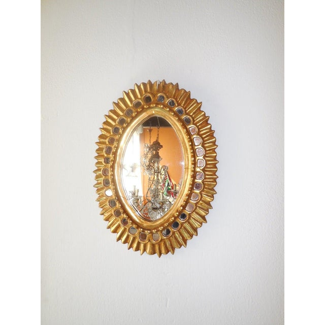 Rare shape. Mirrors in good shape. Cracking and gilt chips as shown. Free shipping from Italy.