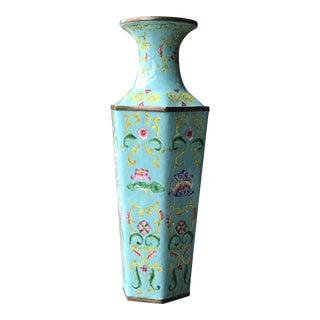 Asian Decorative Enamel Vase For Sale