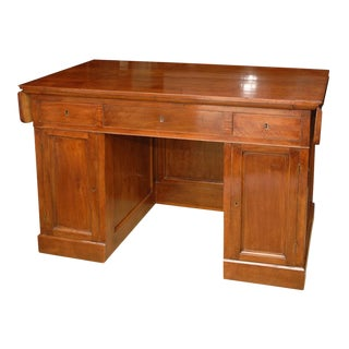 19th Century Italian Walnut Directoire Desk For Sale