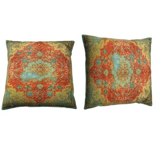 1990s Vintage Decorative Persian Accent Pillows- A Pair For Sale