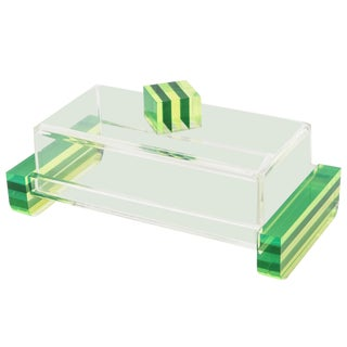 Charles Hollis Jones Colored Lucite Two-Part Box For Sale