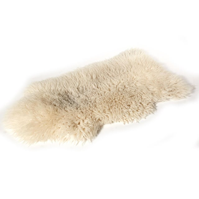 "Sheep Skin Rug - 4'2"" x 2'3"" - Image 3 of 5"