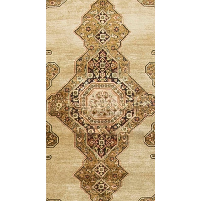 Hollywood Regency Antique Persian Silk Quom Rug - 3' X 5' For Sale - Image 3 of 3