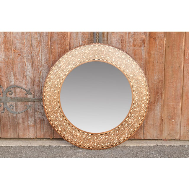 Anglo-Indian rosewood bone inlay full length mirror. This piece is all inlaid by hand and adorn with beautiful florate...