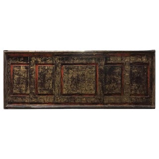 19th Century Antique Thai Gilt Decorated Architectural Panel For Sale