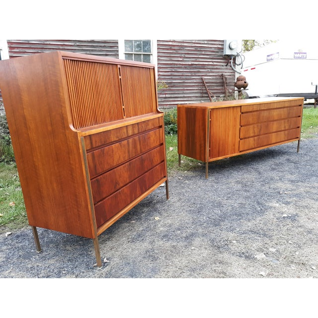 This is a Scandinavian bedroom set designed by Edmund Spence for William Hinn . This is a very rare set and we were told...