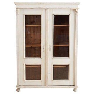 Swedish Gustavian Style Pine Bibliotheque Bookcase For Sale