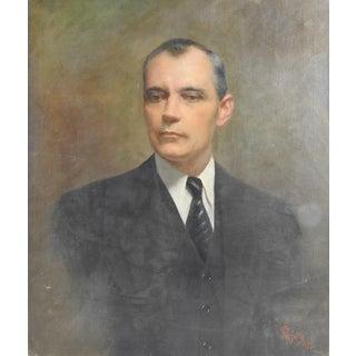 Portrait by Edmondo Pizzella, 1935 For Sale