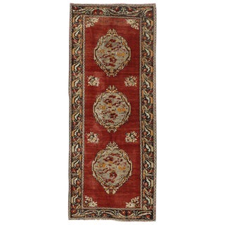 20th Century Turkish Oushak Hallway Runner - 4′1″ × 10′ For Sale