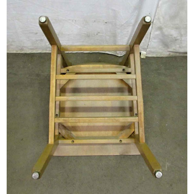 Solid Maple School Chair For Sale - Image 10 of 10