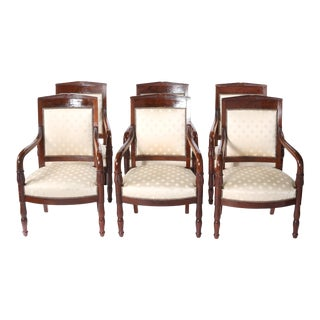 Early 20th Century Edwardian Style Mahogany Set Armchairs For Sale