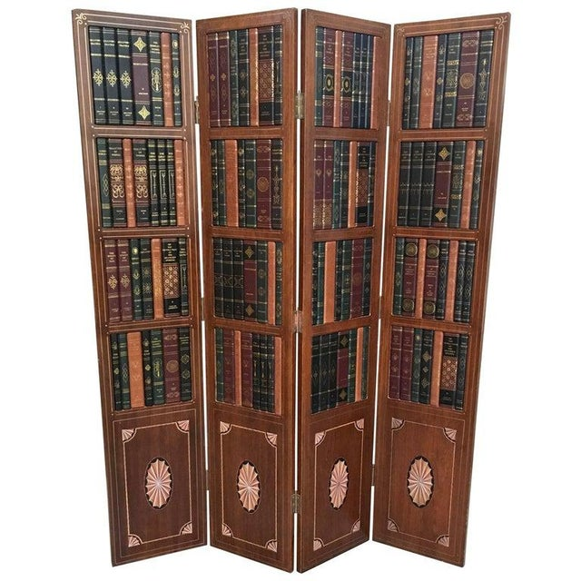 20th Century Leather Book Room Divider For Sale - Image 9 of 9