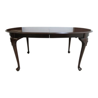 Ethan Allen Georgian Court Queen Anne Dining Room Banquet Table For Sale