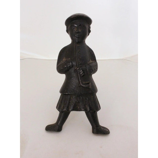 Traditional Antique Scottish Smoker Andirons - a Pair For Sale - Image 3 of 7