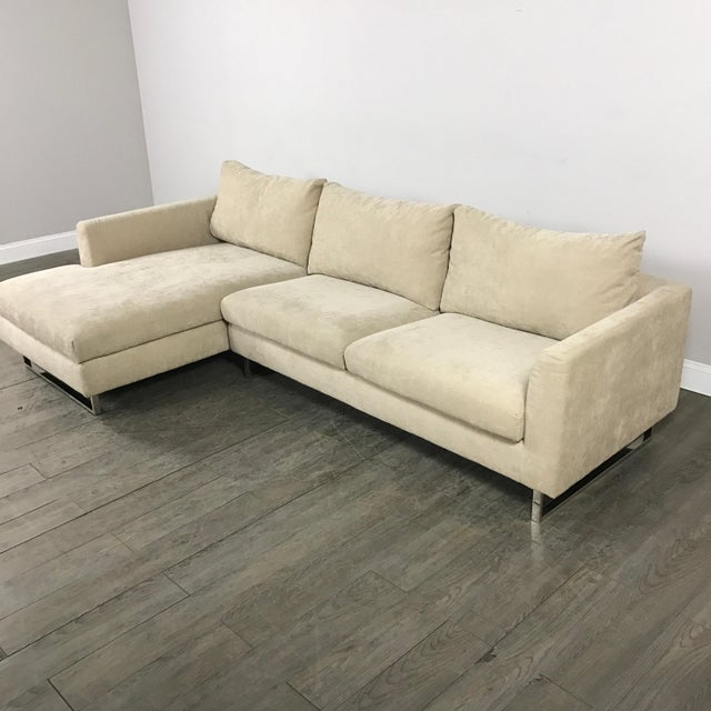 Modern Beige Sectional Sofa - Image 3 of 9