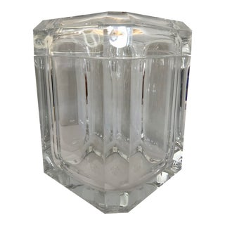 Massive Lucite Ice Bucket/Pivoting Lid For Sale