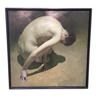 "Nancy Depew ""Temptation"" Modern Hyper-Realist Nude Oil Painting For Sale"