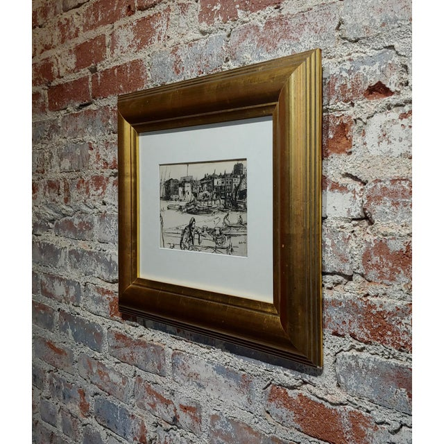 1950s Vintage Black Lion Wharf Etching on Paper by James Whistler For Sale In Los Angeles - Image 6 of 9