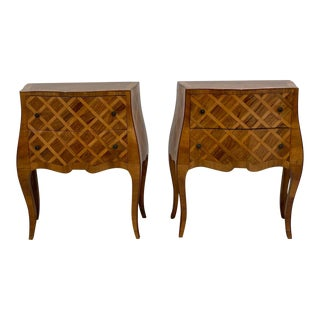 Vintage Italian Nightstands Circa 20th Century - a Pair For Sale