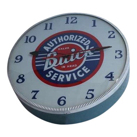 Rare 1940s buick glass face advertising shop wall light up clock rare 1940s buick glass face advertising shop wall light up clock chairish aloadofball Images