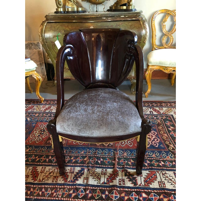 1920s Vintage Sue Et Mare David Weill Art Deco Side Chair For Sale - Image 13 of 13