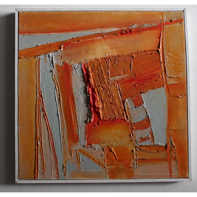Sylvie Guillemé Abstract Impasto Oil Painting - Study in Orange - Image 2 of 6