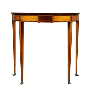 Regency Mahogany and Satinwood Console Table For Sale