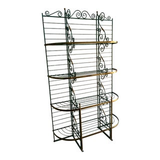 Early 20th Century French Iron and Brass Baker's Rack For Sale