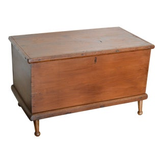 Early 20th Century Primitive Trunk Coffee Table For Sale