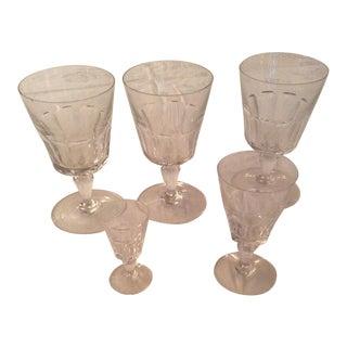 Baccarat Bretagne Assorted Crystal Glassware - Set of 5 For Sale
