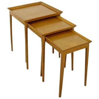 Mid Century Modern Set of Nesting Side Tables Robsjohn Gibbings Widdicomb 1950s For Sale