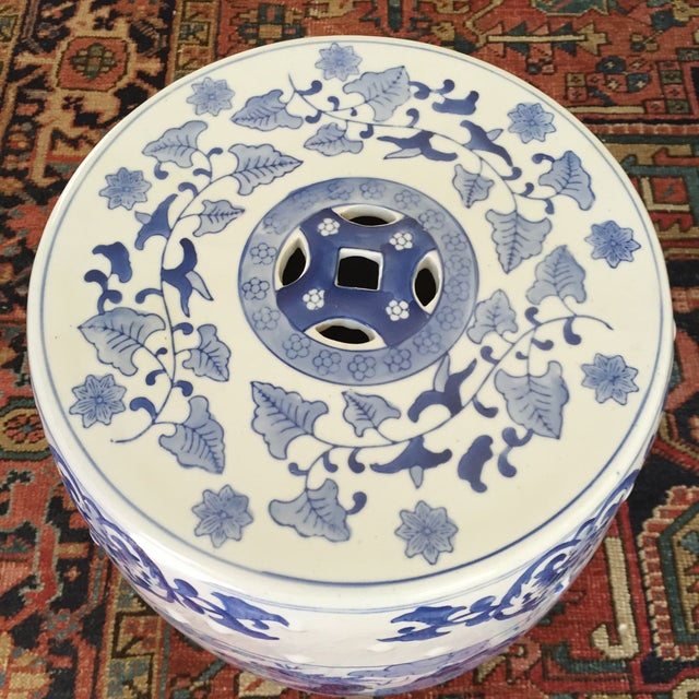 Large Chinoiserie Ceramic Garden Stool - Image 9 of 9