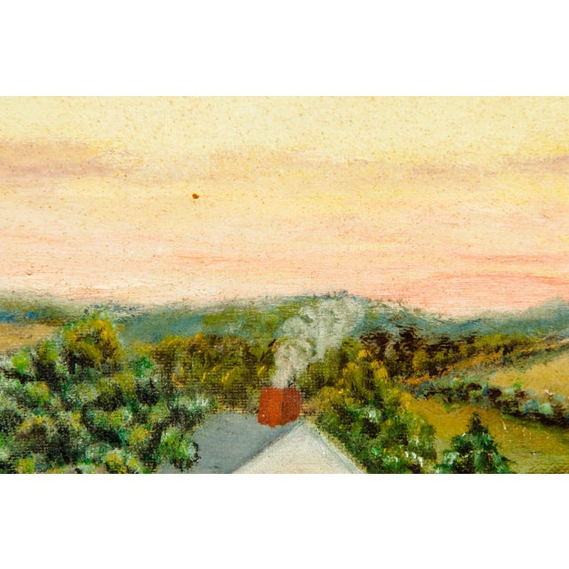 Mid-20th Century Wood Framed Oil / Board Painting For Sale In New York - Image 6 of 10