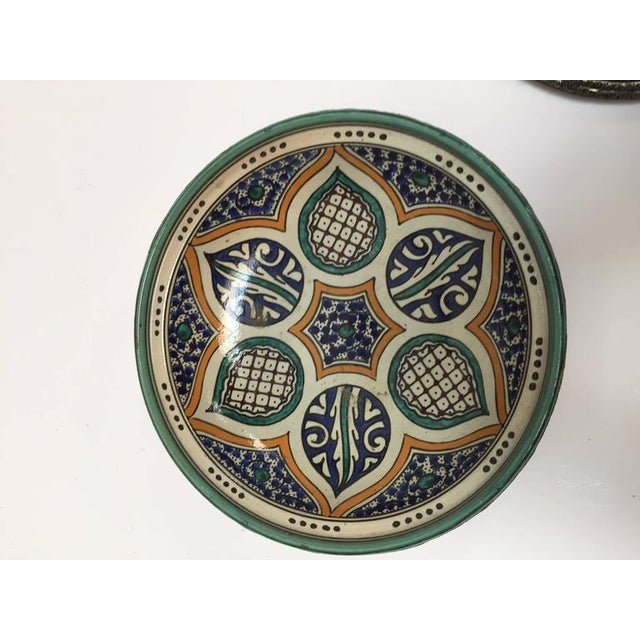 Blue Moroccan Ceramic Tajine From Fez For Sale - Image 8 of 10